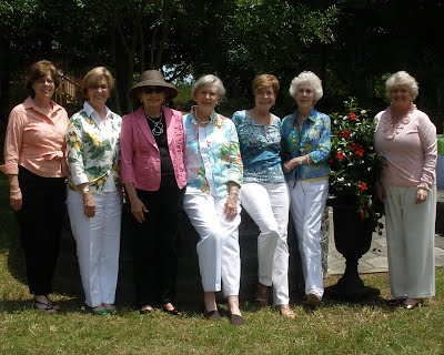 From left to right: Betsy Folks, Pat Thompson, Sandra Catoe, Margaret Bundy, Gigi Biggerstaff, Cecile Flanders, Peggy Little